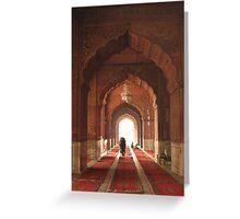 Jama Masjid Mosque, Delhi INDIA Greeting Card