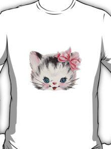 Sweet Heart Retro Kitty  T-Shirt