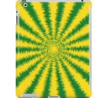 Fuzzy Yellow and Green Sunburst Stripes iPad Case/Skin