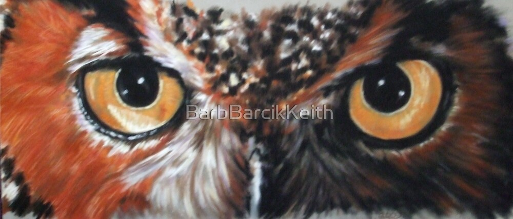 Eye-Catching Great Horned Owl by BarbBarcikKeith