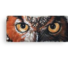 Eye-Catching Great Horned Owl Canvas Print