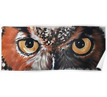 Eye-Catching Great Horned Owl Poster