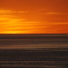 Orange Sunset with Bouy by Alexander Brown