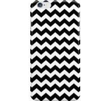 Black and White Chevron Zigzag Stripes iPhone Case/Skin