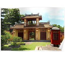 Gates of the Imperial City IV - Hue, Vietnam.  Poster