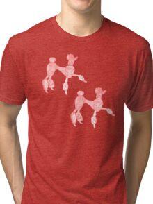 Double Trouble Pink Poodles Tri-blend T-Shirt