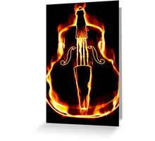 Classic violin in flame Greeting Card
