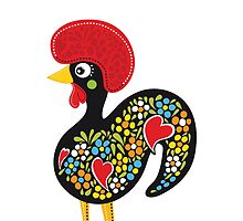 Symbols of Portugal - Rooster Nr. 07 by silvianeto