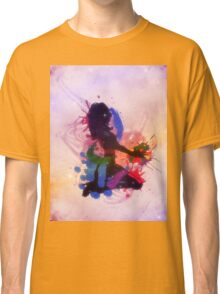 Grunge colorful illustration of a music DJ Classic T-Shirt