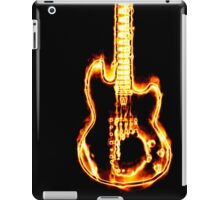 Electronic guitar in flames iPad Case/Skin