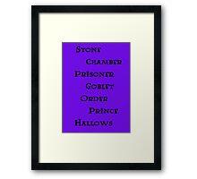 Harry Potter books Framed Print