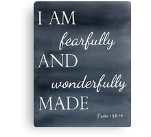 Psalm 139:14 Watercolor Canvas Print