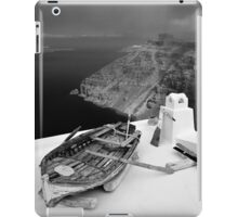 Boat on the roof - Santorini island iPad Case/Skin