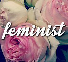 Rose Floral Cursive Feminist Design by hellosailortees