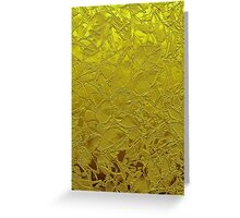 Metal Grunge Relief Floral Abstract Greeting Card