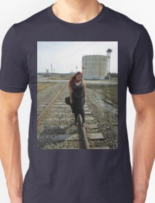 on the tracks  Unisex T-Shirt