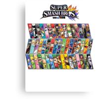 Super Smash Bros. 4 Characters Canvas Print