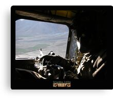 CH-47 Door Gunner Canvas Print