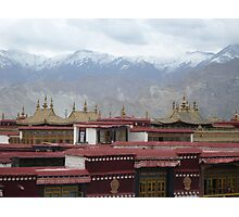 Temple Rooftop Photographic Print