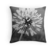 Dandelion in B&W Throw Pillow