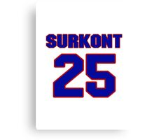 National baseball player Max Surkont jersey 25 Canvas Print