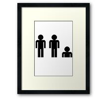 Two and A Half Men Tshirt Framed Print