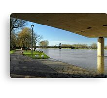 The River In Flood, Stapenhill Gardens Canvas Print