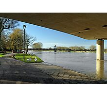 The River In Flood, Stapenhill Gardens Photographic Print