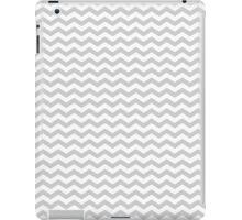 Gray White Chevron Zigzag Pattern iPad Case/Skin