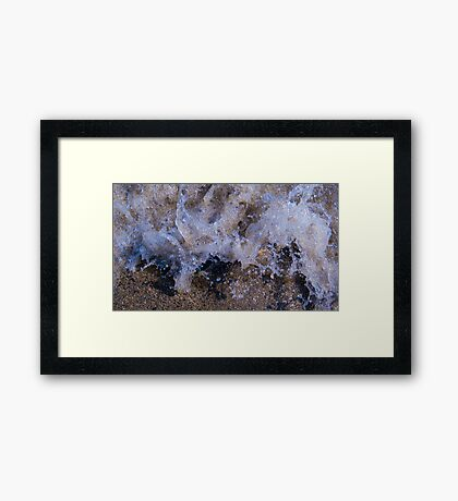 Water Meets Rock #2 Framed Print