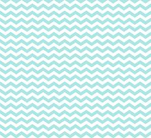 Pale Teal Green White Chevron Zigzag Pattern by TigerLynx