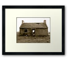 old, empty and weathered Framed Print