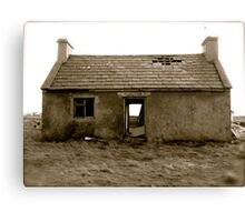 old, empty and weathered Canvas Print
