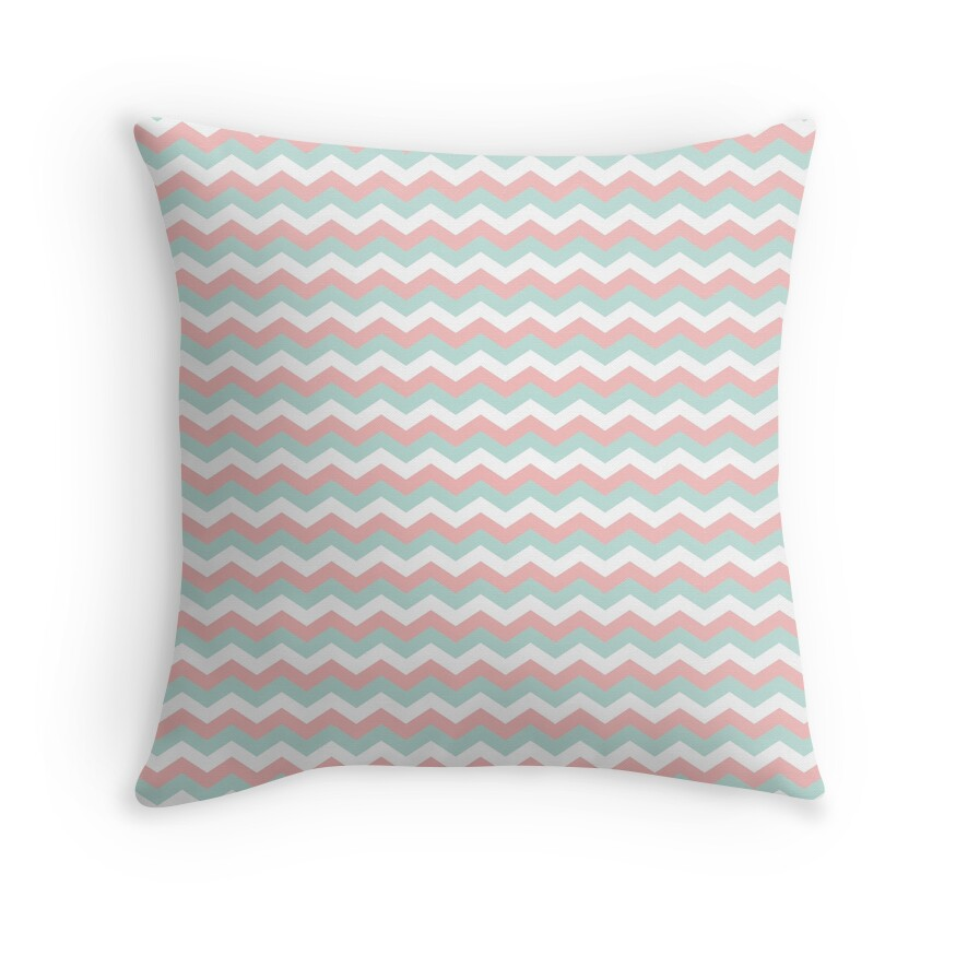 mint chevron patterns coral - photo #26