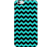 Turquoise and Black Chevron Zigzag Pattern iPhone Case/Skin