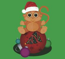 Christmas Monkey Kids Clothes