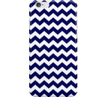 Navy Blue and White Chevron Zigzag Pattern iPhone Case/Skin