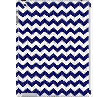 Navy Blue and White Chevron Zigzag Pattern iPad Case/Skin