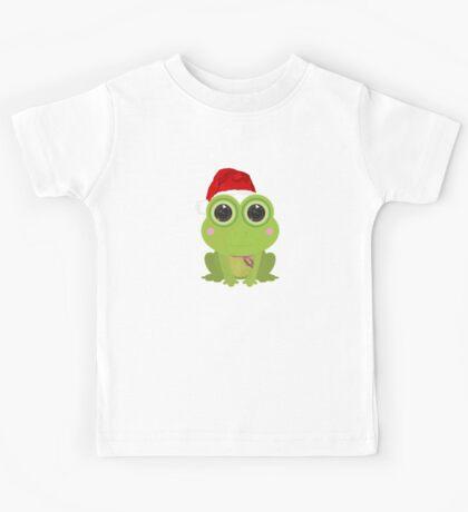 Christmas Frog Kids Tee