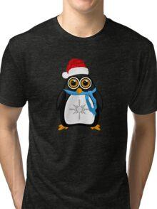 Christmas Penguin Tri-blend T-Shirt