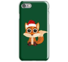 Christmas Fox (2) iPhone Case/Skin