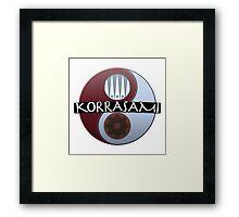 KorrAsami - Balance (Text) Framed Print