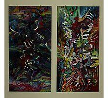 A Paradox Diptych (Oils and Encaustics)- Photographic Print