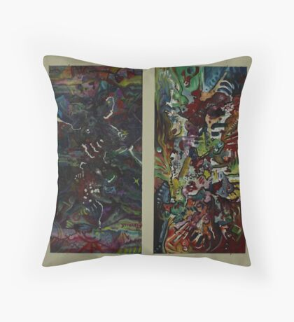 A Paradox Diptych (Oils and Encaustics)- Throw Pillow