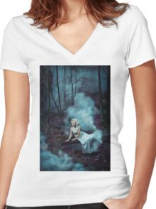 FOGGY  Women's Fitted V-Neck T-Shirt