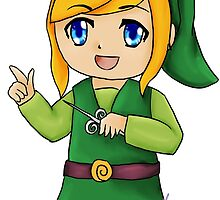 Chibi Link, Legend of Zelda by amufujibioshi