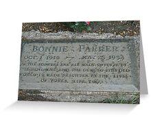 Bonnie Parker Greeting Card