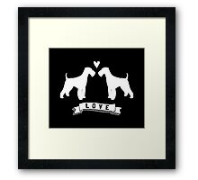 Airedale Terriers in Love Framed Print