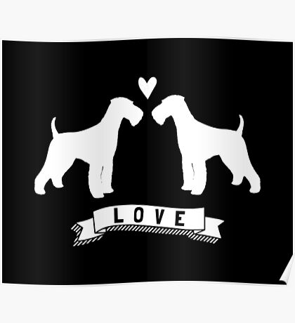 Airedale Terriers in Love Poster