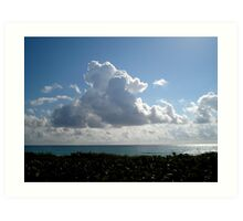 ocean cloud Art Print